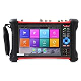 Wsdcam 7 Inch All in One 1080p Retina Display IP Camera Tester Security CCTV Tester Monitor with SDI/TVI/AHD/CVI/Multimeter/TDR/OPM/VFL/POE/WIFI/4K H.265/HDMI in&Out/Firmware Update X7-MOVTSADH