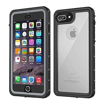 iPhone 7 Plus/8 Plus Waterproof Case OTBBA Underwater Snowproof Dirtproof Shockproof with Touch ID Full Sealed Cover Waterproof Case for iPhone 7 Plus/8 Plus-5.5in  Clear