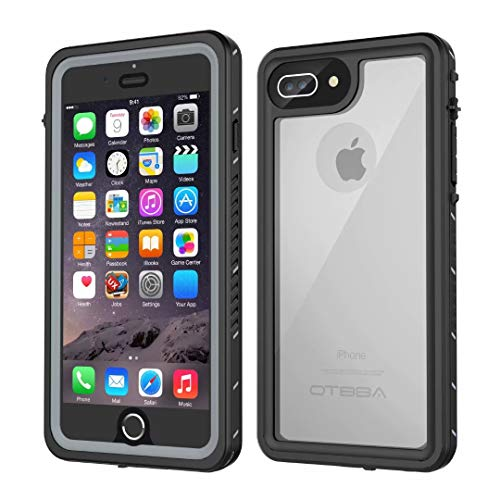 iPhone 7 Plus/8 Plus Waterproof Case OTBBA Underwater Snowproof Dirtproof Shockproof IP68 Certified with Touch ID Full Sealed Cover Waterproof Case for iPhone 7 Plus/8 Plus55in Clear