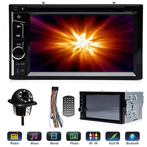 """2 Din Car Stereo DVD Touchscreen with Backup Cam for Chrysler 200 (2011-2014), Bluetooth Calling and Audio, 6.2"""" Monitor, CD DVD Player, Mirrorlink, USB, SWC, Aux-in"""