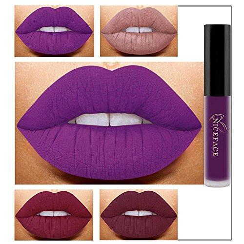 Pintalabios Mate Larga Duracion Labiales de Maquillaje Profesional 26 Colores para Niñas y Mujer por ESAILQ