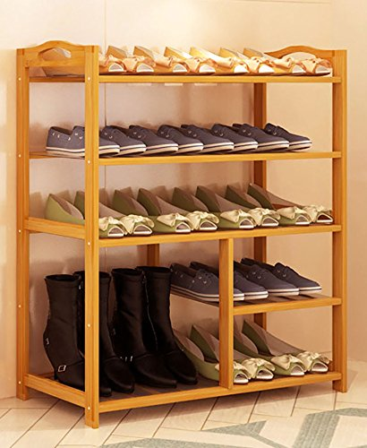 YXX- Solid Wood Shoe Boot Rack Shoebox Flower Stand Storage Dust-Proof Shelf 4 Tiers Assembly Bedroom Foyer Living Room Office Garage (Size : 792587cm)