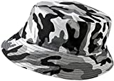 PDDBucket Sun Hat Unisex Summer Beach Hat Sombreros de Pescador, Camuflaje Gris