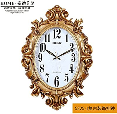 European Retro Wall Clock Mute Living Room Oversized 20-Inch Clock Wall Charts The Creative