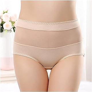 سراويل داخلية بدون خياطة من القطن للنساء ملابس داخلية شفافة مثيرة مرنة كبيرة الحجم 40-110 كجم (اللون: نمط اثنين، الحجم: X...