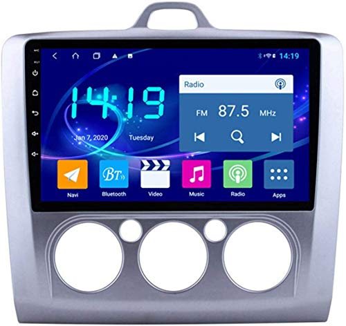 AEBDF Android 9.1 Navegación estéreo para automóvil para Ford Focus 2006-2014.9 Pulgadas Sat Nav Pantalla táctil Táctil Bluetooth Multimedia Player con Enlace de Espejo,4Core WiFi+4G 2+32G