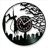 """Batman Clock Vinyl Clock, Batman Wall Clock 12"""", Unique Art Decoration, The Best Home Decorations"""