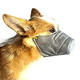 QYonline-JP ワンちゃんマスク ペット用防塵マスク フィルター付き 花粉やPM2.5からペットを守る 無駄吠え防止 3個セット (S)