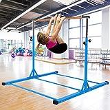 Dai&F Gymnastics Bar for Kids, Height Adjustable Junior...