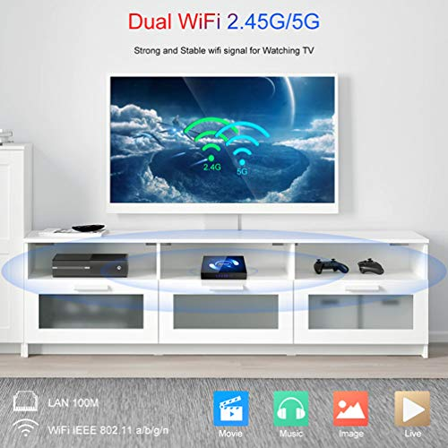Android 10.0 TV-Box mit QPLOVE Tastatur 4 GB RAM 32 GB ROM H616 Quad Core CPU 2.4G 5G Dual WiFi Bluetooth 5.0 LAN Unterstützung 1080P H.265 4K Smart Android TV Box