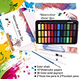 Immagine 2 wostoo set pittura ad acquerello