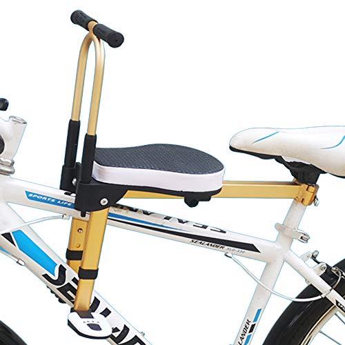 WSDSB Asiento Infantil para Bicicleta, Plegable Sólido y Fiable Silla Delantera para Niños para Bicicleta Compatible con Todas Las MTB Adultos