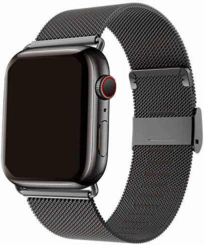 HenMerry Compatible for Apple Watch Band 42mm 44mm 38mm 40mm Adjustable Stainless Steel Mesh product image