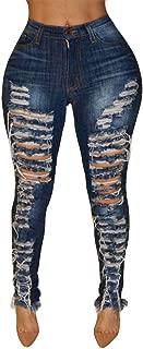 Sale Pants Skinny Torn Women,NEWONESUN Winter Stretch Slim Casual Ripped Hole Denim Jeans Vintage Trousers