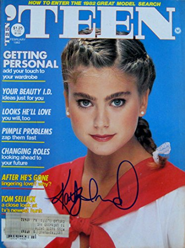KATHY IRELAND Super Model autographed TEEN MAGAZINE Feb 1982