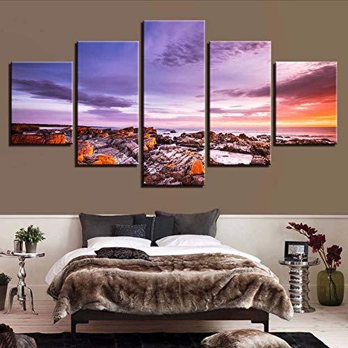 Cczxfcc canvas met print voor Home Decoration, 5 stuks 20x35/45/55cm-contiene Telaio