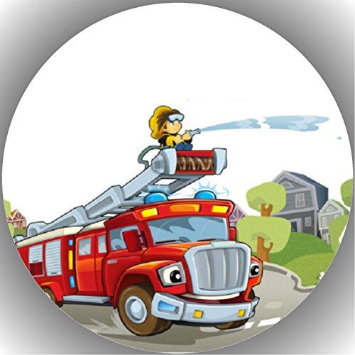 Fondant Tortenaufleger Tortenbild Geburtstag Feuerwehr T13