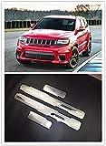 4 Piezas Acero Inoxidable Decoración para estribos, para Jeep Grand Cherokee 2014 2015 2016 2017 2018 Placas ProteccióN Coche Desgaste Pedal Accesorios