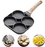 ETAOLINE Frying Pan Non-Stick Pancake Pan 4 Hole Fried Egg Burger Pan
