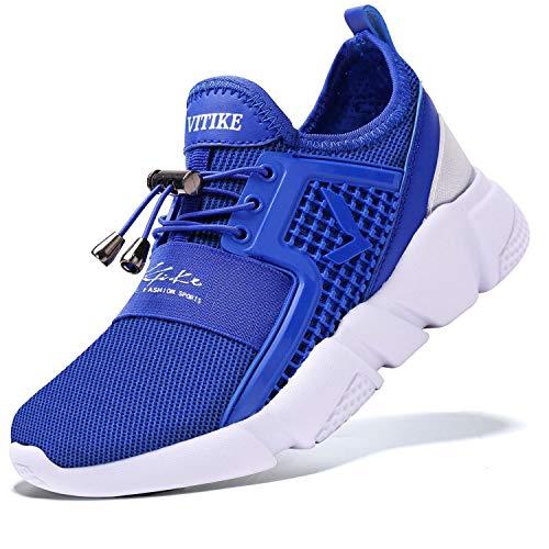 VITIKE Kinder Schuhe Jungen Schuhe Mädchen Sneaker Damen Sportschuhe Outdoor Schuhe Jungen Turnschuhe Laufschuhe Schnürer Freizeit Sportschuhe Kinder Sneaker, 4-blau, 31 EU