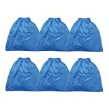 Smilefil VRC5 Cloth Filter Fits Vacmaster 4 to 16 Gallon Wet/Dry Vacuums,6 Pack
