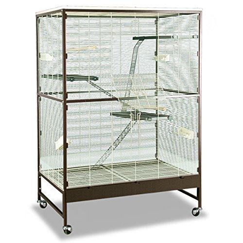 Montana Cages ® | Voliere, Zimmervoliere, Käfig Paradiso 120 für Nager - Choco/Vanilla