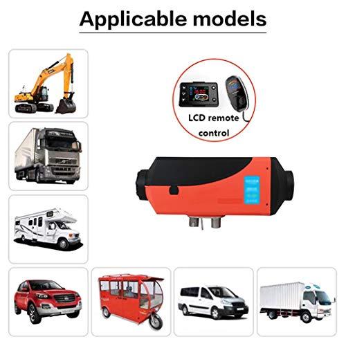Diesel verwarming 12 V thermostaat diesel luchtverwarming LCD-monitor verwarming parkeerverwarming voor camper aanhanger vrachtwagen boot jacht Red+Black 2-24V