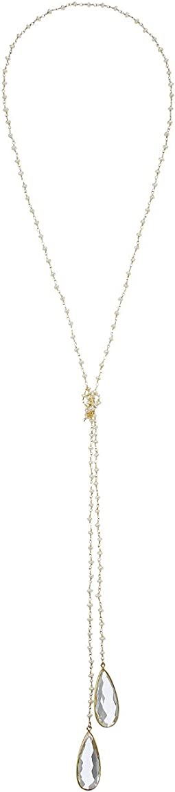 Dee Berkley - Pearl Lariat Necklace