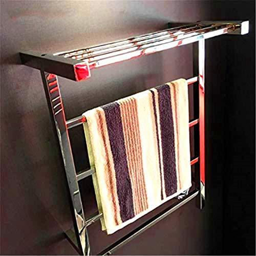 Calentador de pared de baño Calentador de toallas, Toallero con calefacción, Toalla eléctrica Rack Termostático Montado en la pared Energía Ahorro de energía Toalla Calentador Casero Accesorios de bañ