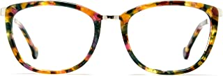de69295b440 TIJN Women Chunky Floral Oval Full-rim Eyeglasses 52-18-135