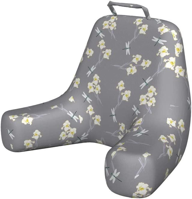Ambesonne Flowers Insects Reading Pillow Flower Art A surprise price is realized Spring Iris Regular dealer