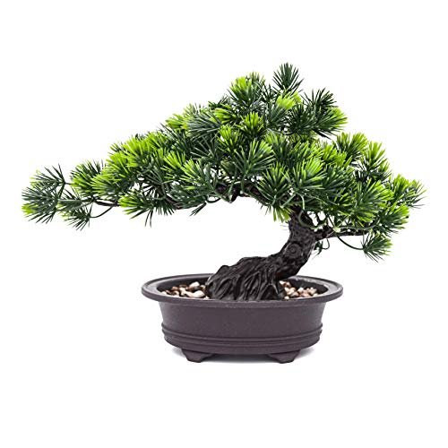 Make Life Better Artificial Christmas Bonsai Tree - Artificial Plant Decoration, Potted Artificial House Plants, Pine Tree Bonsai Plant, for Decoration, Desktop Display, Zen Garden
