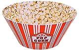 POPCORN PRINT Large Popcorn Bowl - Popcorn Bucket Reusable Plastic Popcorn Containers Movie Night - 10 x 4.5 Inches