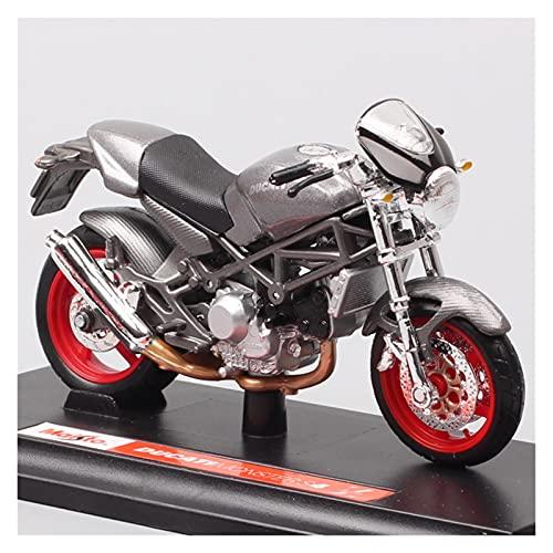 El Maquetas Coche Motocross Fantastico 1/18 para Ducati Monster S4 Motocicleta Muscular Mini Simulación Aleación Modelo Motocicleta Colección Adultos Regalo Coche Juguete Regalos Juegos Mas Vendidos