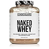 Naked Whey Chocolate Protein - All Natural Grass Fed Whey Protein Powder, Organic Chocolate, and Coconut Sugar 5lb Bulk, GMO Free, Soy Free, Gluten Free Aid Muscle Growth and Recovery 60 Servings