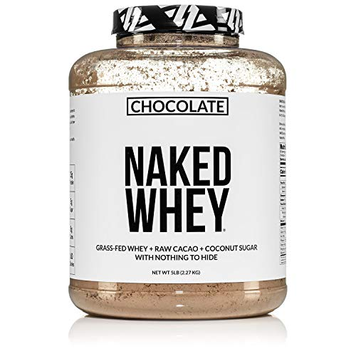 Naked Whey Chocolate Protein - All Natural Grass Fed Whey Protein...