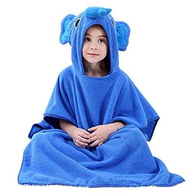 IDGIRLS Hooded Baby Bath Towel Bathrobe and Washcloth Set for Boys Girls 0-7 Year