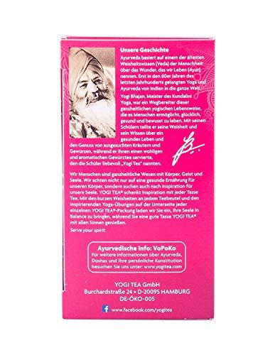 Yogi Tee, Frauenpower-Tee Ayurvedische Teemischung, Biotee, lieblich, fruchtiger Tee, 17 Teebeutel, 30,6g