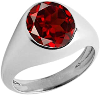 garnet pinky ring