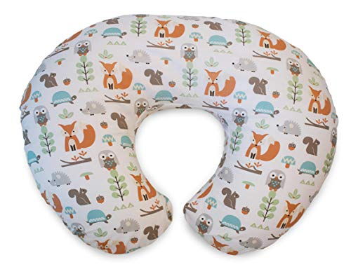 Chicco Boppy Pillow with cotton slipcover Modern Woodland