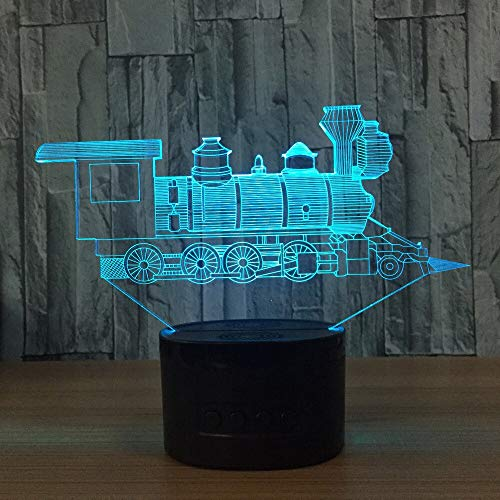 (Nur 1) Lokomotive 3D Visual Illusion Lampe Transparent Acryl Nachtlicht Led Fairy Lampa Farbwechsel Touch Table Bulbing Lambas