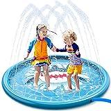 JOYIN Aspersor de Juego para Niños, Aspersor de Tiburón de 1,7m y Alfombrilla de Juego para niños pequeños