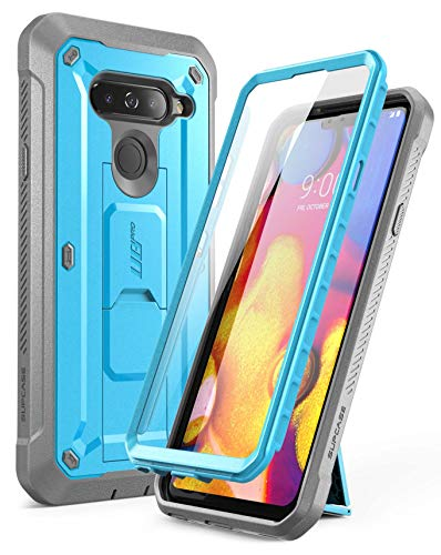 SUPCASE Full-Body Protective Case for LG V40, LG V40 ThinQ, with Built-in Screen Protector Kickstand &Holster Clip Design for LG V40/LG V40 ThinQ 2018 [Unicorn Beetle PRO Series] (Blue)
