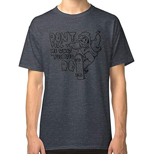 No me digas qué follar hacer clásica camiseta para padres, padres, madres, hombres, mujeres, niños, niñas, ajuste cómodo, para llevar en cualquier lugar Gris Dark Heather 3XL