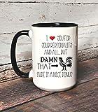 DKISEE - Tazza da tè con scritta in lingua inglese 'Hilarious', idea regalo per lui Hot Husband,...
