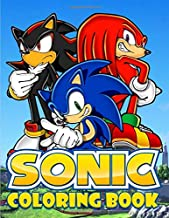 Sonic Coloring Book: Exclusive Work- 33 illustrations for Adults and Kids
