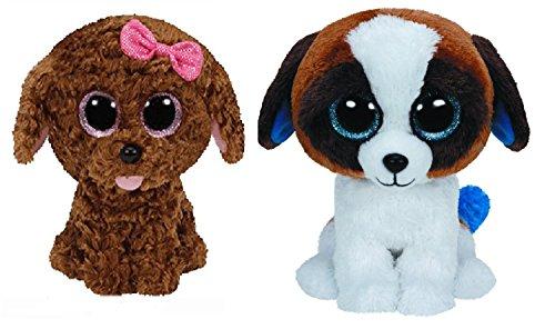 6 Inch Ty Duke & Maddie Dog Beanie Boos Dogs Set of 2 Plush Toys