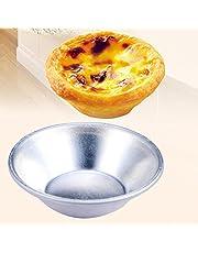 HONUTIGE forma do tarta na jajka, 10 szt. pogrubiona foremka do jajek, wielokrotnego użytku nieprzywierająca forma do ciasta jajko ciasto pasta De Nata piekarnik piec okrągły budynek forma do samodzielnego wykonania narzędzia