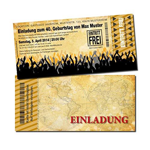 Eintrittskarte Einladung Einladungskarte Geburtstag 4