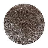 Alfombra de pelo largo Shaggy Flairy – Colorido y suave (120 x 120 cm, redonda), color gris